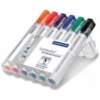 Набор маркеров для доски Staedtler Lumocolor 351, круглый, 2 мм, 6 цв. в пенале (351WP6)