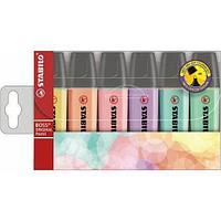 Набор маркеров текстовых Stabilo BOSS Pastel, 6 цв. (70/6-2)