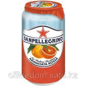 Напиток сокосодержащий San Pellegrino Aranciata Rossa газированный, красный апельсин, 0,33л, ж/б