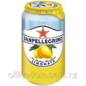 Напиток сокосодержащий San Pellegrino Limonata газированный, лимон, 0,33 л, ж/б