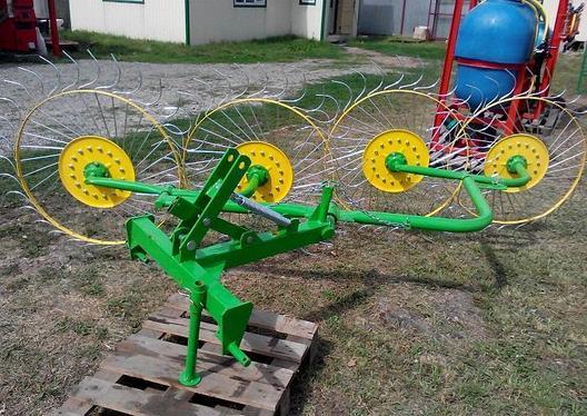 Грабли-ворошилки 4-х колесные PZ-240 Польша, фото 2