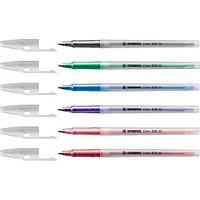 Ручка шариковая Stabilo liner 808 M, 0,45мм, зеленый (808M1036)