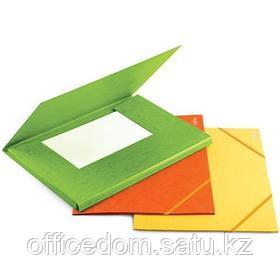 Папка д/бумаг А4 на резинке карт. 300г/м2, красный