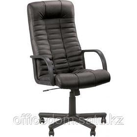 Кресло для руководителя ATLANT BX SP-A кожа, пластиков. подлокотники, пластик. крестовина, черный