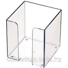 Подставка для блока бумаги СТАММ ПЛ41, 9х9х9, прозрачный