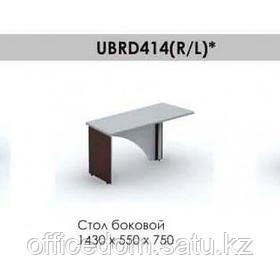 Стол боковой правый Brighton UBRD414R, 1430*550*750, венге/алюминий