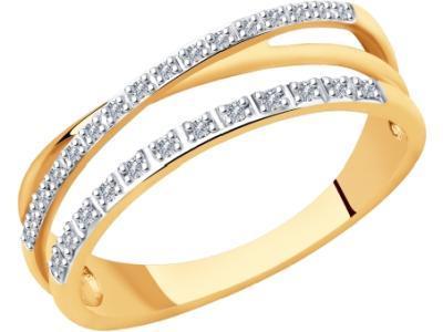 Золотое кольцо SOKOLOV 1011917_17
