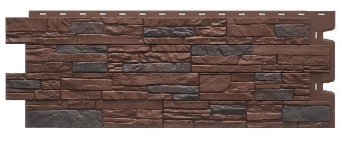 Фасадные панели STEIN Дёке Темный орех 1098x400 мм