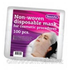 Нетканая маска для косметических процедур, 100 шт/уп, одноразовая, Beautyfor