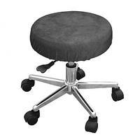 Чехол велюровый на стул мастера, черный, Beautyfor