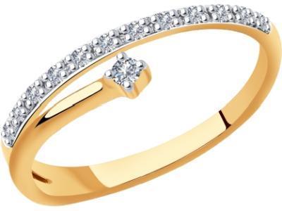 Золотое кольцо SOKOLOV 1011893_17