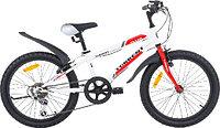 """Велосипед Torrent Totem, подростковый, 7 скоростей, колеса 20д, рама сталь 10,5"""", Красный/Белый"""