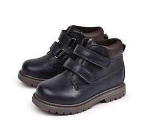 Осенние теплые ботинки, цвет синий, 24 р-р