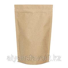 Пакет дой-пак бумажный внутри металлизированный с замком zip-lock