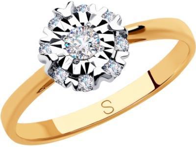 Золотое кольцо SOKOLOV 1011818_17