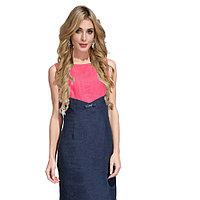 Летнее платье, лен, 44-52, синее, коралловое