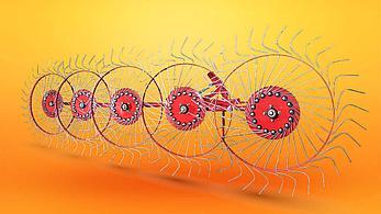 Грабли-ворошилки колесно-пальцевые 2.4м 3.0м D-pol (аналог Польша), фото 3