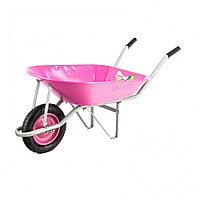 Тачка садовая грузоподъемность 160 кг, объем 78 л Pink Line// Palisad, фото 1