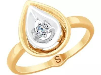 Золотое кольцо SOKOLOV 1011784_165