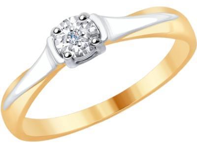 Золотое кольцо SOKOLOV 1011689_17