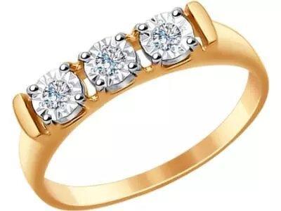 Золотое кольцо SOKOLOV 1011625_17