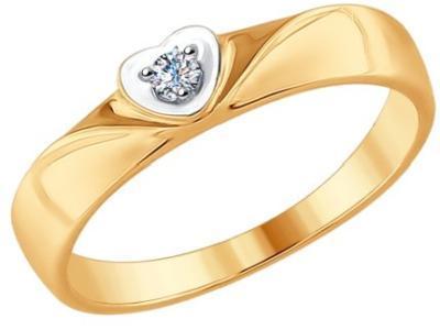 Золотое кольцо SOKOLOV 1011618_17