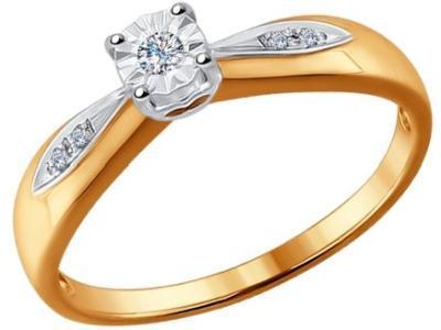 Золотое кольцо SOKOLOV 1011529_165