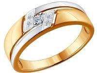 Золотое кольцо SOKOLOV 1011527_17