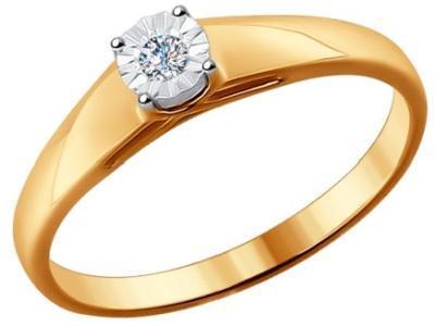 Золотое кольцо SOKOLOV 1011522_165