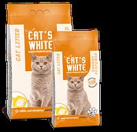 Бентонитовый наполнитель Сat's white Orange для кошек (Апельсин) - 5 кг