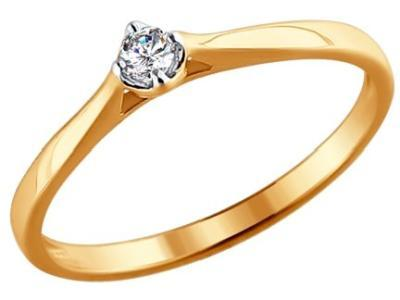 Золотое кольцо SOKOLOV 1011383_165