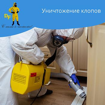 Уничтожение клопов в 1 ком квартире без запаха за две обработки