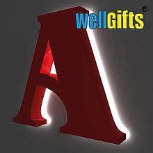 Монтаж объемных букв с контражурной подсветкой
