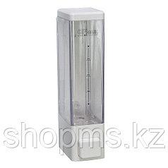 Дозатор жидкого мыла пластиковый, белый, квадратный 250мл GFmark 624