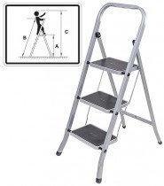 Лестница-стремянка стальная, 4 широкие ступени,  Н=129 см, вес 6,25 кг 65383