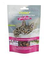 Вяленые кусочки из говяжьего легкого для кошек, TitBit - 40 г