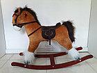 Оригинальная большая музыкальная лошадка-качалка, фото 3