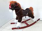 Большая музыкальная лошадка-качалка для детей. Отличный подарок. Kaspi RED. Рассрочка, фото 2