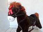 Большая музыкальная лошадка-качалка для детей. Отличный подарок. Kaspi RED. Рассрочка, фото 4