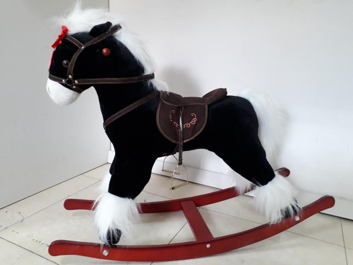 Классная музыкальная лошадка-качалка для детей. Рассрочка. Kaspi RED
