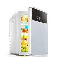 Холодильник автомобильный HYUNDAI с двойной системой охлаждения регулятор температуры 12V/220V, фото 1
