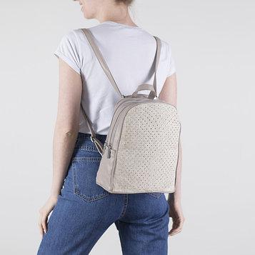 Рюкзак молодёжный, 2 отдела на молниях, 3 наружных кармана, цвет хаки