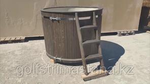 Купель из лиственницы и кедра 1600*1200 с пластиковым вкладышем