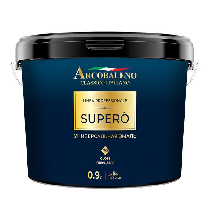 Эмаль глянцевая универсальная Arcobaleno Supero 70 gloss