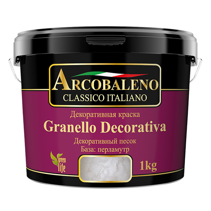 Декоративная краска перламутровая Arcobaleno Granello Decorativa