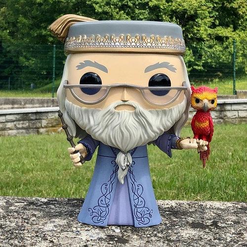 Альбус Дамблдор с Фоуксом 25 см (Albus Dumbledore with Fawkes 10-inch) из фильма Гарри Поттер