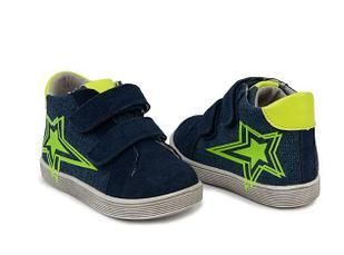 Ботинки джинсовые, со звездой, 25 размер