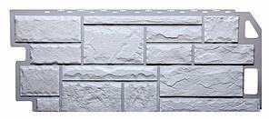 Фасадные панели Мелованный белый 1130x470 мм (0,5 м2) Камень FINEBER