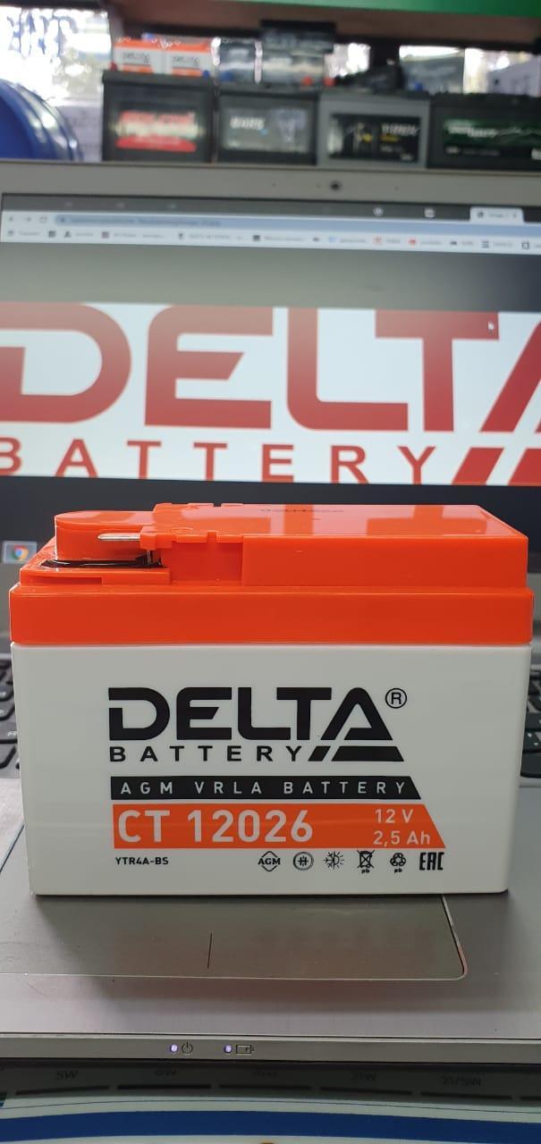 Аккумулятор DELTA CT12026 YTR4A-BS 12v 2.5Ah AGM/VRLA battery