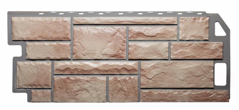 Фасадные панели Терракотовый 1130x470 мм Камень FINEBER